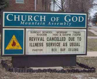 Revival cancelled due to illness service as usual